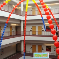 Balloon Canopy in Atrium | Up, Up & Away!