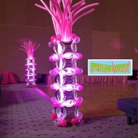 Neon Lighted Balloon Column | Up, Up &Away!