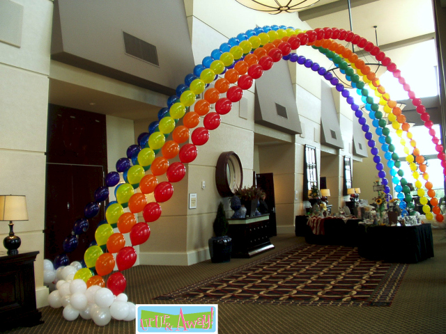 Welcome up up and away balloons for How to make balloon arch at home