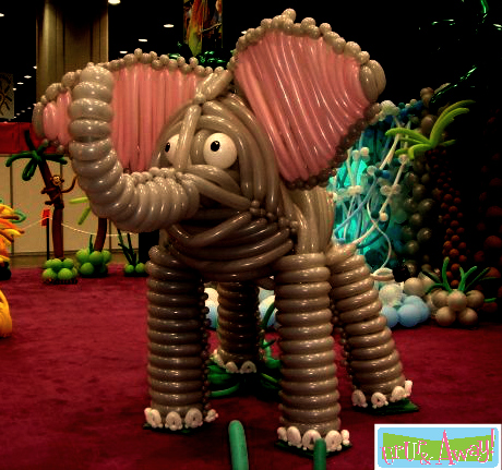 Elephant Balloon Sculpture | Up, Up & Away!