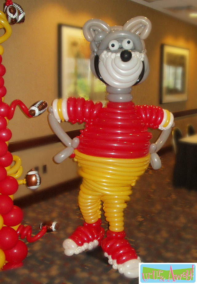 KC Wolf Balloon Sculpture | Up, Up & Away!