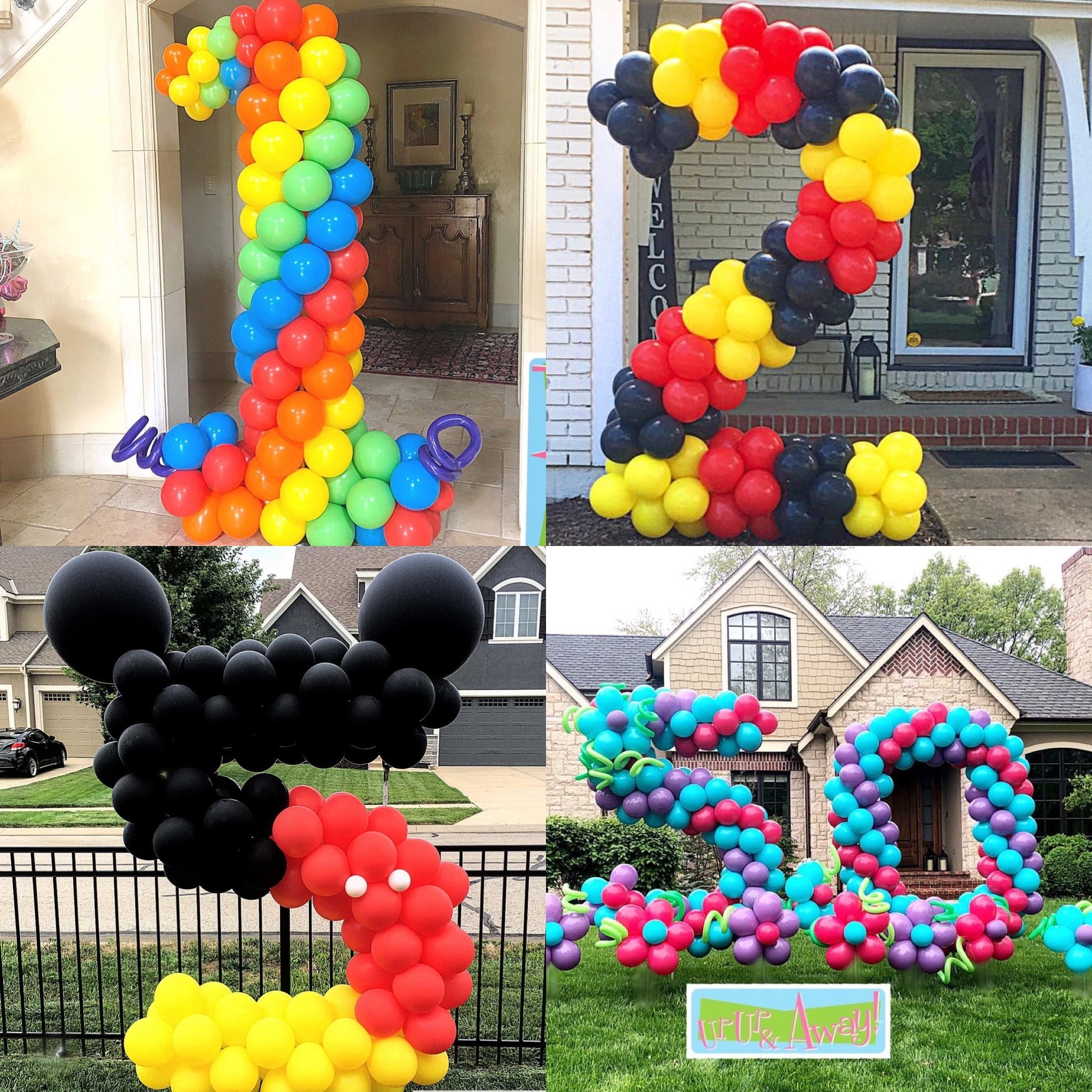 Up, Up & Away! Balloon Number Sculptures