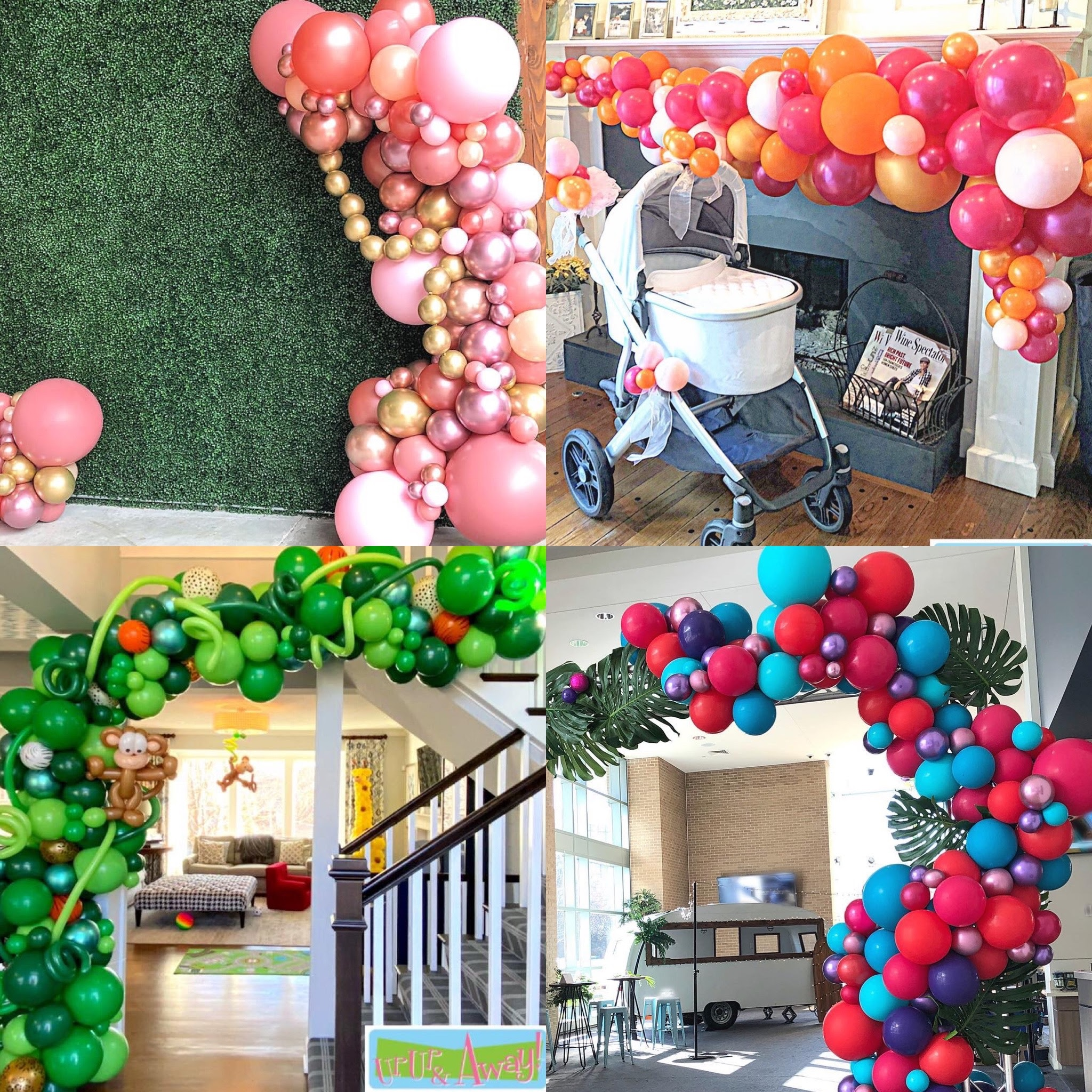 Up, Up & Away! Custom Organic Balloon Installations Kansas City
