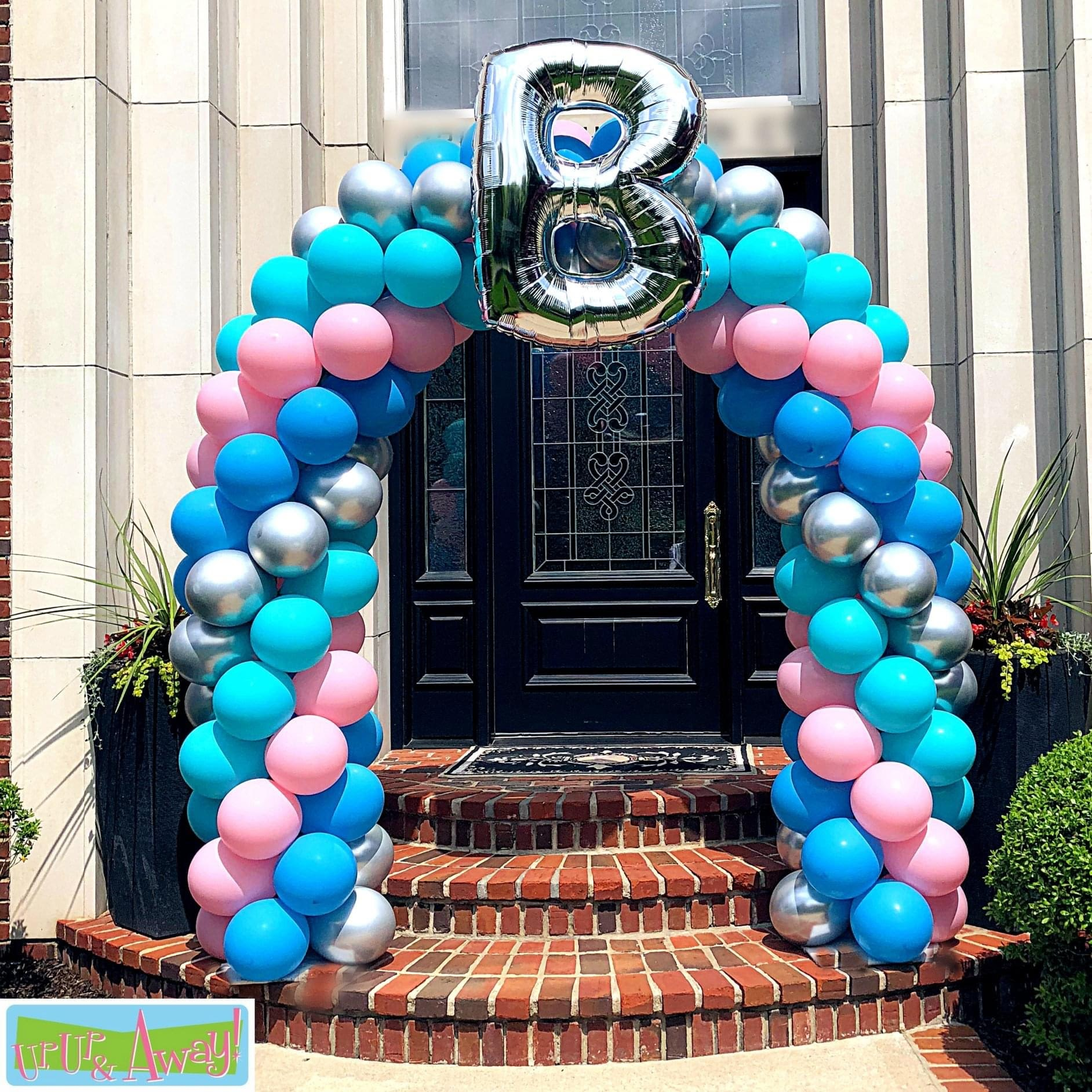 Monogram Arch | Up, Up & Away! Balloons