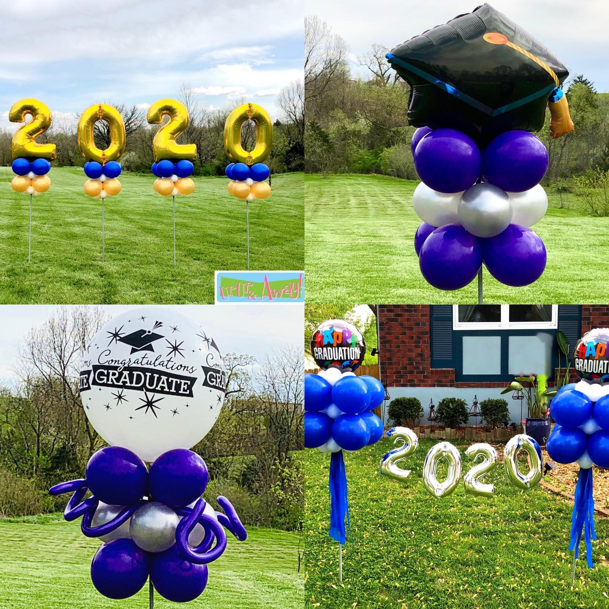 Graduation Yard Art Kansas City Balloons | Up, Up & Away! Balloons