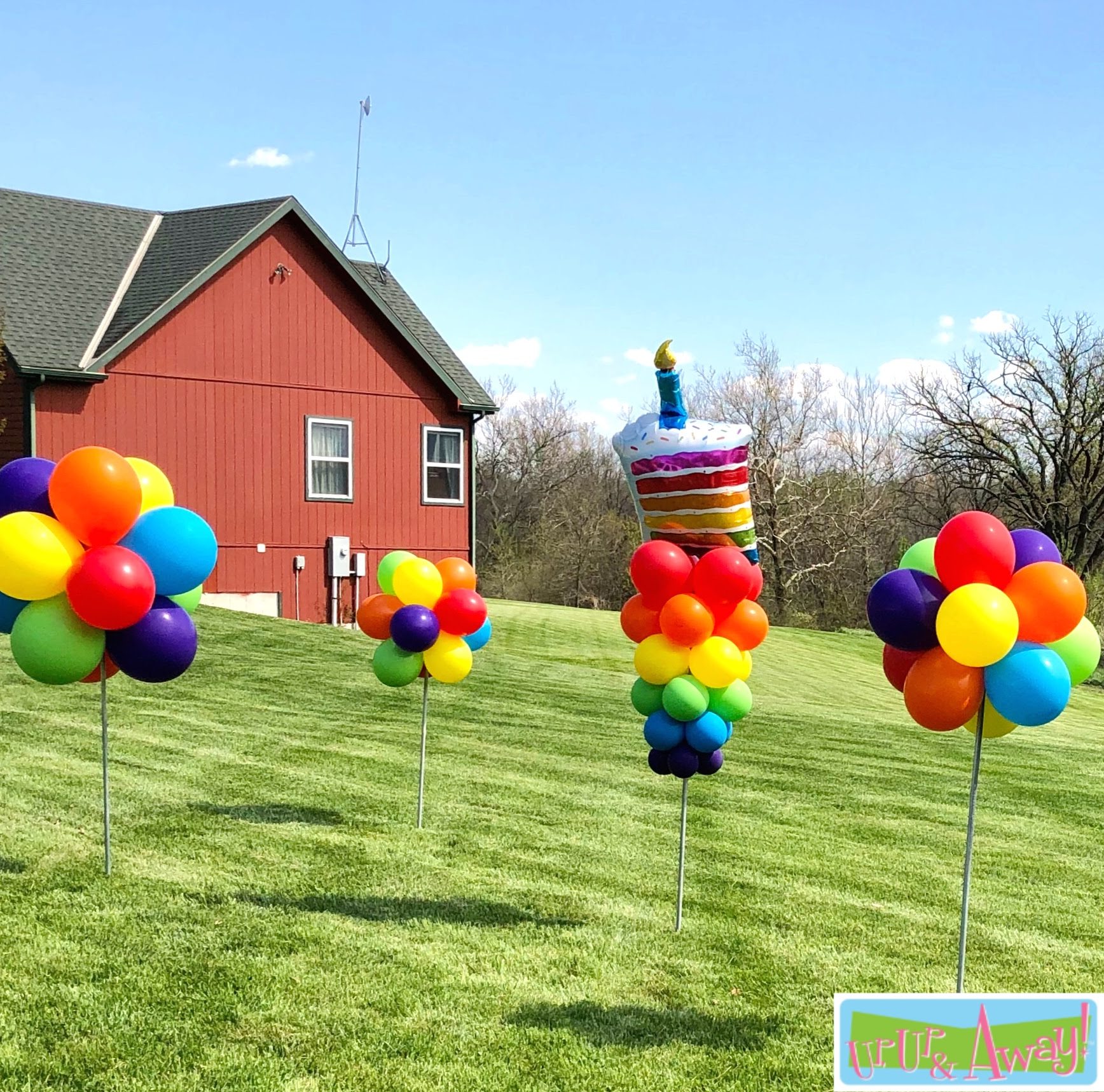 Piece of Cake with Four Topiaries | Up, Up & Away! Balloons