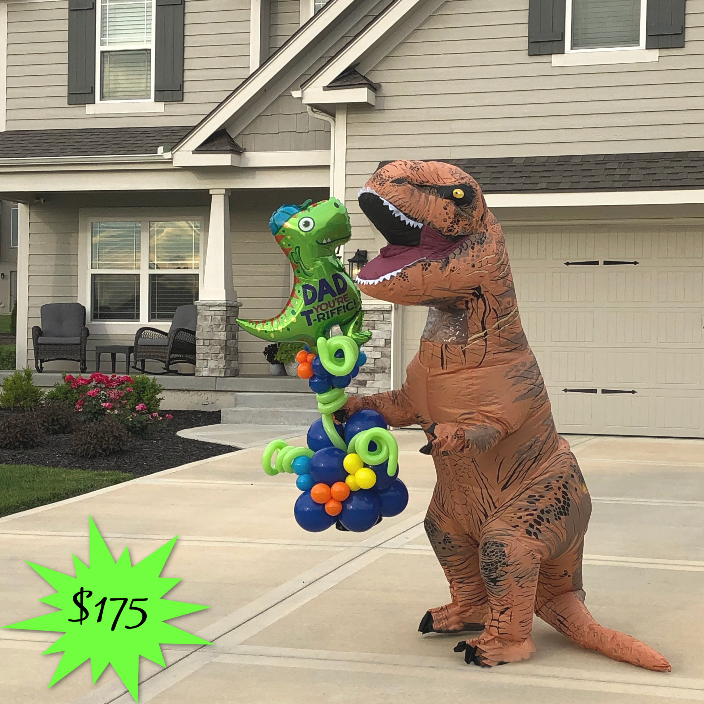 Dino Delivery For Father's Day In Kansas City | Up, Up & Away!